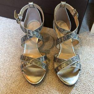 Silver Sparkle Sandals - Women' size 8.5